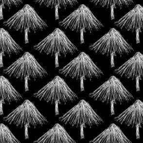Christmas Tree Lot for Minimalists (Nighttime)
