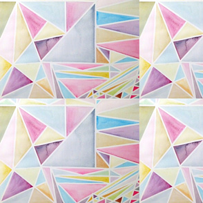Triangles | watercolor | Meredith Clements