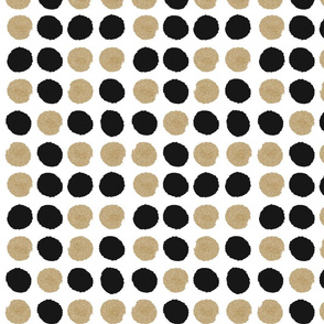 dots black and gold glitter