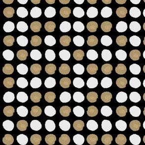 dots gold glitter black white