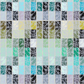 turquoise and grey tiles