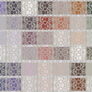 lacy tilework grey and plum