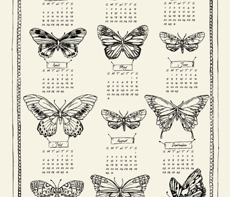 mounted_butterflies_cream