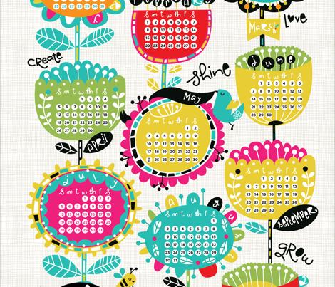 2015 Tea Towel Calendar- Be Happy!