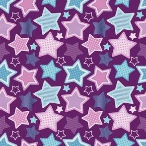Stars Purple