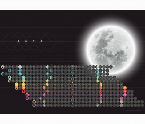 Mod Moon Calendar 2015 by Friztin