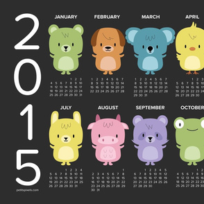 2015 kawaii animals calendar
