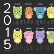 2015 kawaii animals calendar