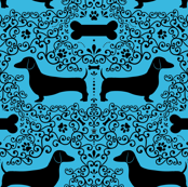 Dainty Dachshunds (Blue)
