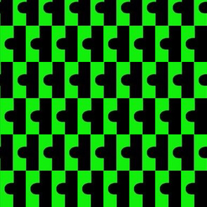 Puzzle Green Black