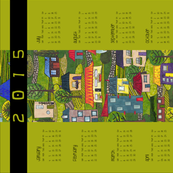 2015 Calendar tea towel - the days of the quarter acre block