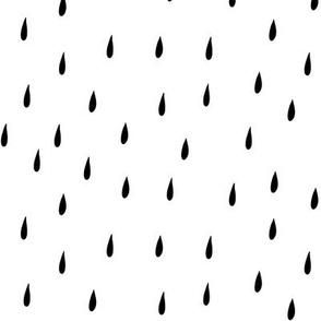 Rain black on white