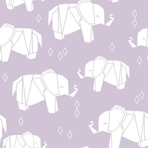 Origami Elephant - Lavender by Andrea Lauren