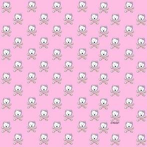 TINY Westie Crossbones Pink