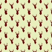 deer head minty green