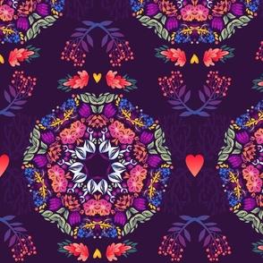 Violet Floral Wreath :)