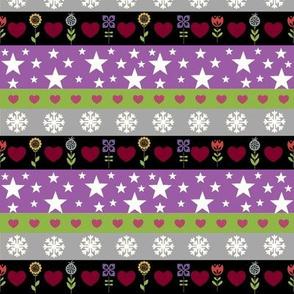 Holiday Stripes -violet