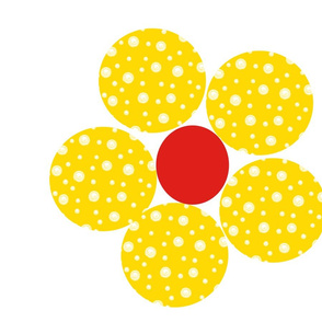 Then came the Yellow Dotty Flower  (daylight)