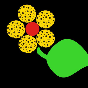 Next: Dotty Yellow Flower with Leaf (nighttime)