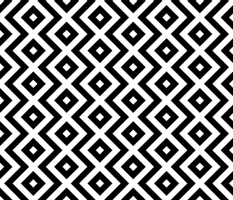 zigzag and square diamond