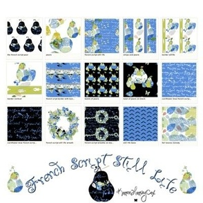 French Script Still Life collection sheet