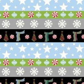 Holiday stripes-scarves and ties