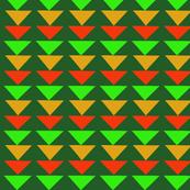 Flying Geese Green Orange
