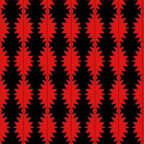 Pineapple Quilt Red and Black