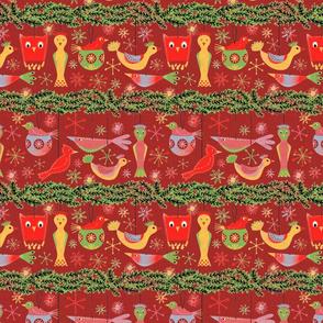 Felt Birds Red Version
