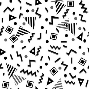 zig zag // trendy 80s 90s memphis black and white kids cute nursery baby black and white