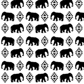 elephant white black monochrome minimal color palette