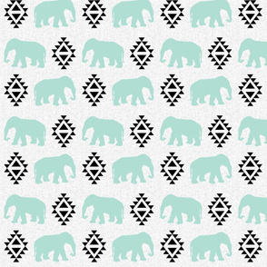 elephant white mint