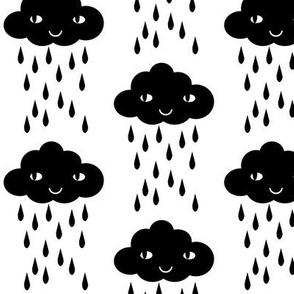 rain cloud black and white
