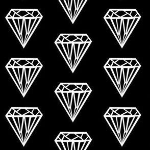 diamond black white