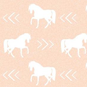 horse blush linen