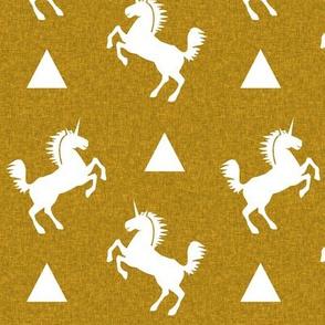 unicorn golden linen