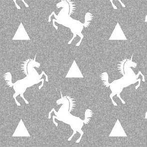 unicorn light grey linen
