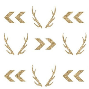 gold glitter antler chevron arrow