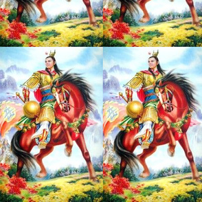 asian china chinese oriental fighting man warriors war battles traditional martial arts kung fu soldiers flags knights horses mountains flowers dynasty