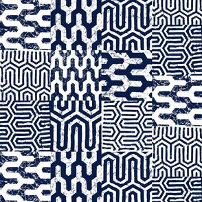 Dark Blue Geometric