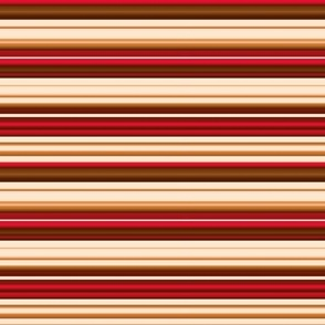 stripes red brown