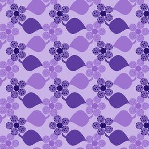 Dotty Purple Flowers
