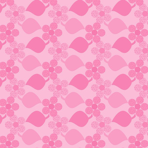 Dotty Light Pink Flowers