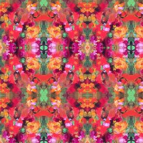 Burst - Red, Green, Pink & Orange