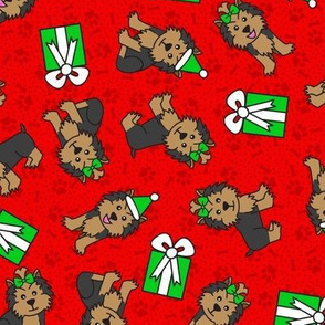 Merry Yorkies (Red)