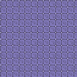 Dachshund plaid on purple background