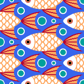 finned fish + bubbles