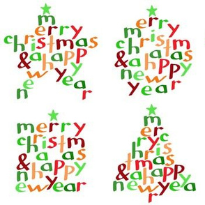 Merry Christmas - shapes (large)