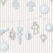 Paper and Wire ornaments