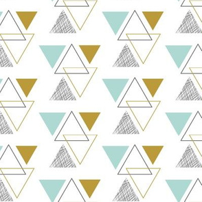 geo triangles // blue